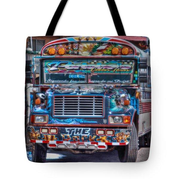 Neat Panamanian Graffiti Bus  Tote Bag by Eti Reid