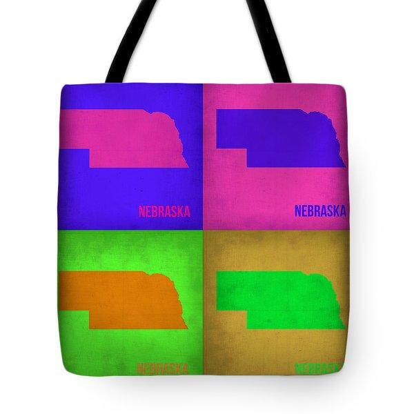 Nebraska Pop Art Map 1 Tote Bag