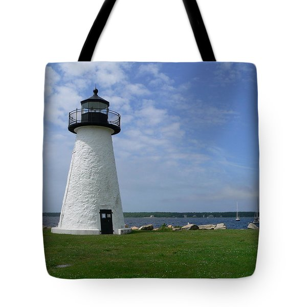 Neds Point Lighthouse Tote Bag