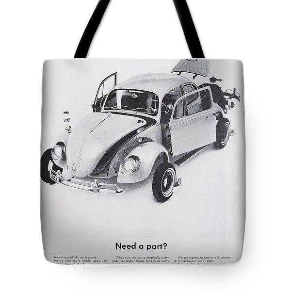 Need A Part? Tote Bag