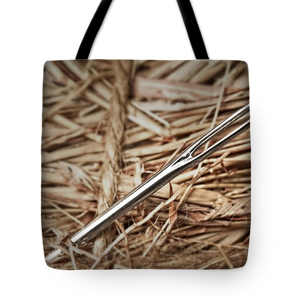 Needle In A Haystack Tote Bag by Tom Mc Nemar