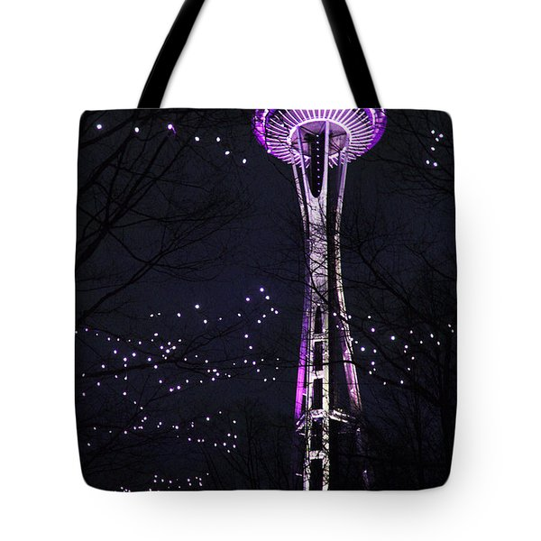 Tote Bag featuring the photograph Needle In Purple by Sonya Lang