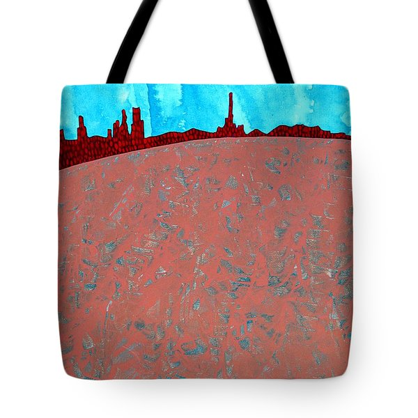Needles And Dunes Original Painting Tote Bag by Sol Luckman