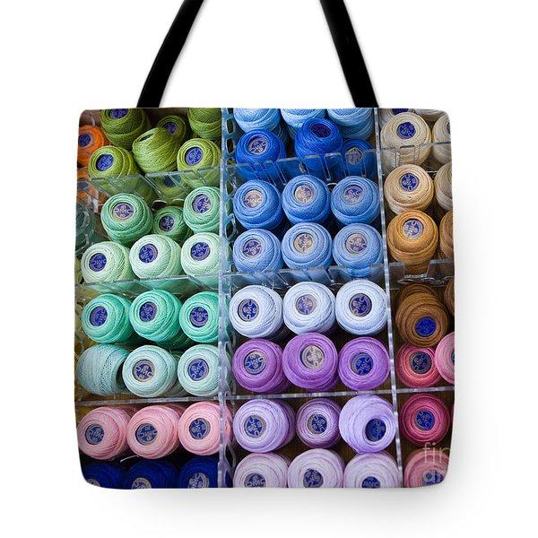 Tote Bag featuring the photograph Needlework Heaven by Liz  Alderdice