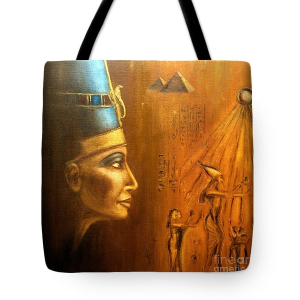 Nefertiti Tote Bag by Arturas Slapsys