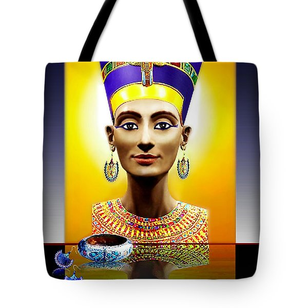 Tote Bag featuring the photograph Nefertiti  The  Beautiful by Hartmut Jager