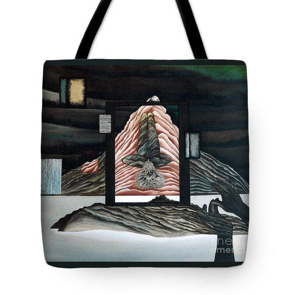 Tote Bag featuring the painting Negative Ion by Fei A