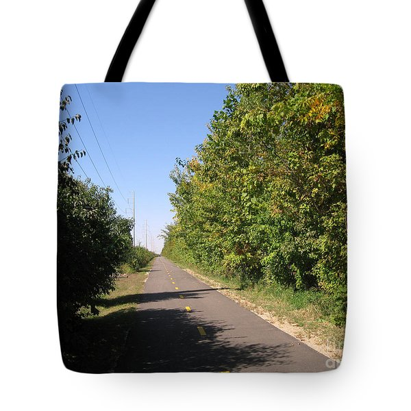 Neighborhood Bicycle And Walking Trail Tote Bag