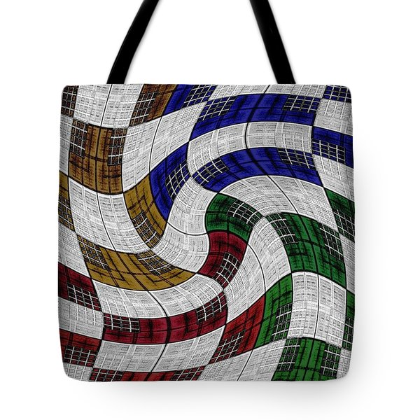 Neighborhood News Tote Bag by Darla Wood