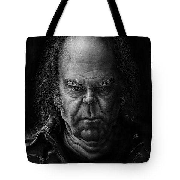 Neil Young Tote Bag by Andre Koekemoer