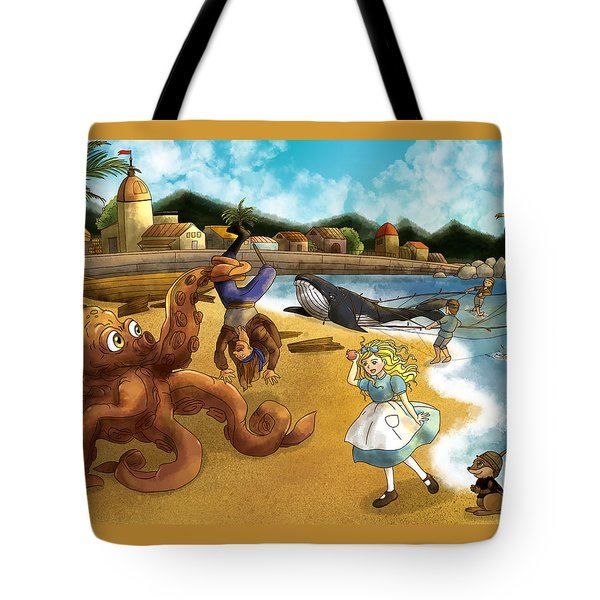 Nellie The Octopus Tote Bag by Reynold Jay