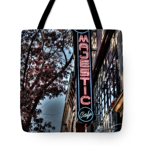Neon At Dusk Tote Bag