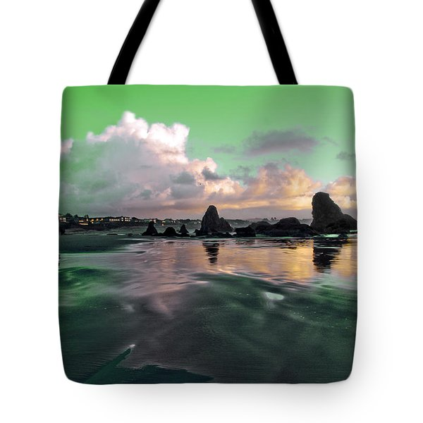 Tote Bag featuring the photograph Neon Beach by Adria Trail