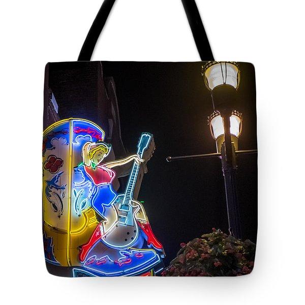 Neon Betty Tote Bag by Glenn DiPaola