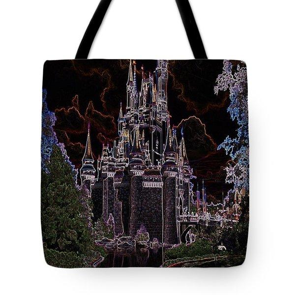Neon Castle Tote Bag