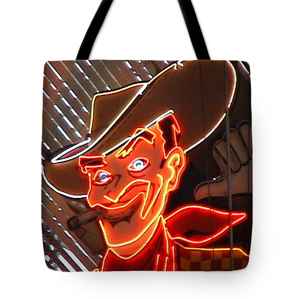 Neon Cowboy Of  Las Vegas Tote Bag