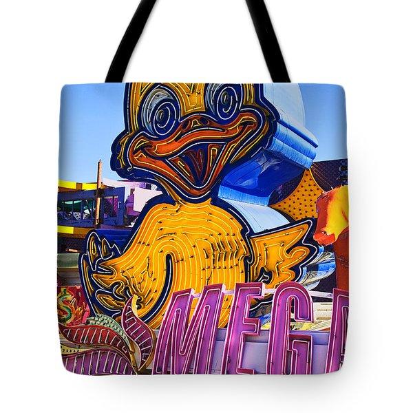Neon Duck Tote Bag