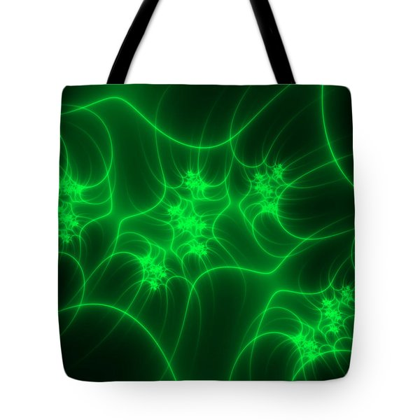 Tote Bag featuring the digital art Neon Fantasy by Gabiw Art