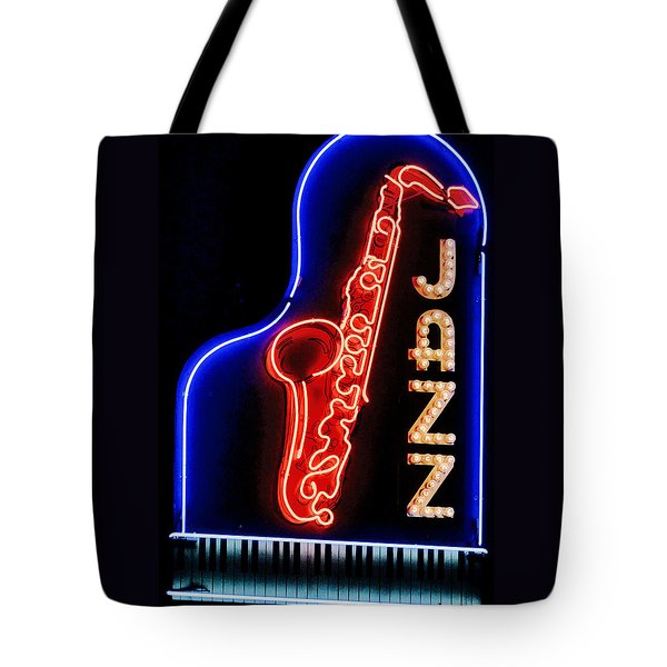 Neon Jazz Tote Bag