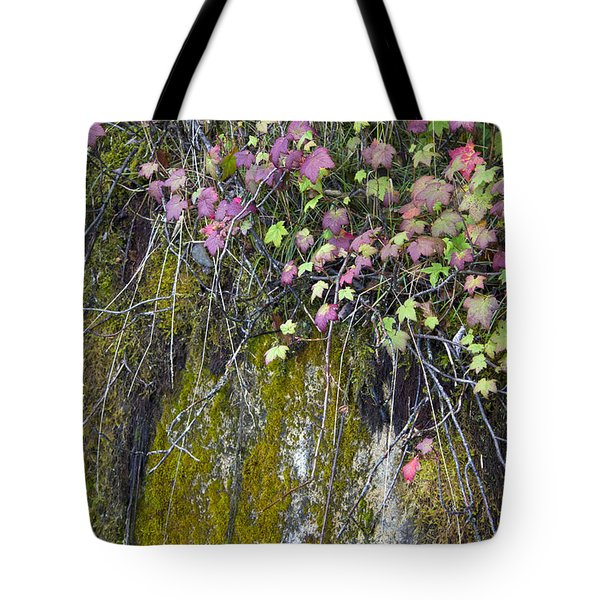 Neon Leaves No 2 Tote Bag