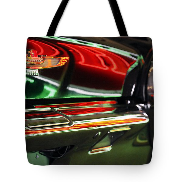 Tote Bag featuring the photograph Neon Reflections by Shoal Hollingsworth