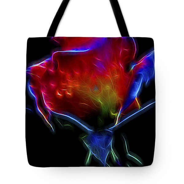 Neon Rose Tote Bag by William Horden