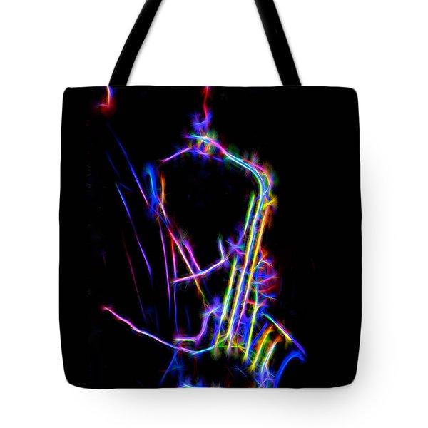 Neon Sax Tote Bag