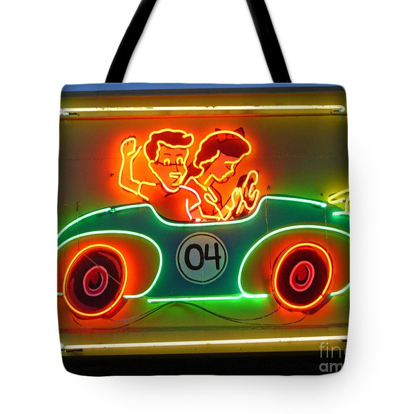 Neon Sign Kennywood Park Tote Bag