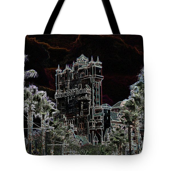 Neon Tower Tote Bag by Eric Liller