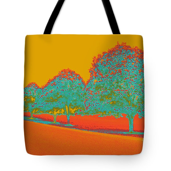 Neon Trees In The Fall Tote Bag