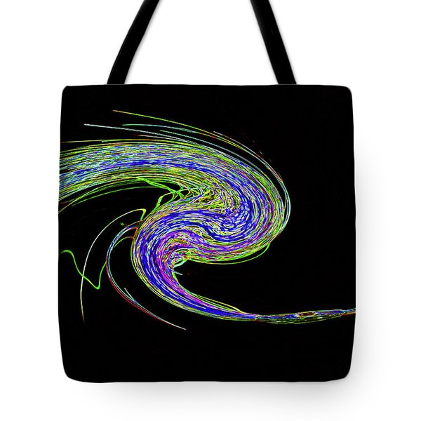 Neon Twirl Tote Bag by Skip Willits