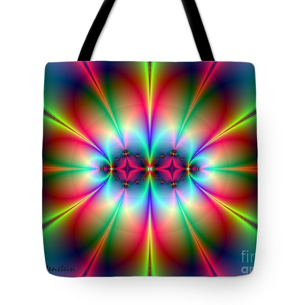 Tote Bag featuring the digital art Neonisity by Joan Hartenstein