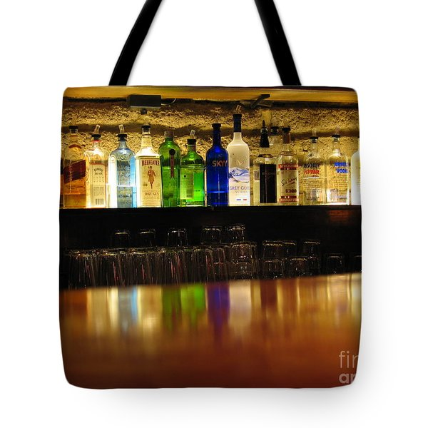Tote Bag featuring the photograph Nepenthe's Bottles by James B Toy