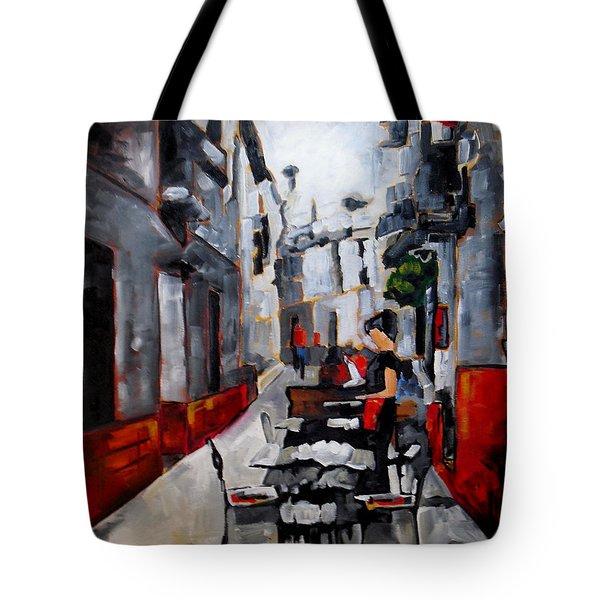 Nerja Spain Tote Bag by Vickie Warner
