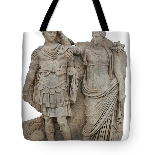 Nero And His Mother Agrippina Tote Bag by Tracey Harrington-Simpson