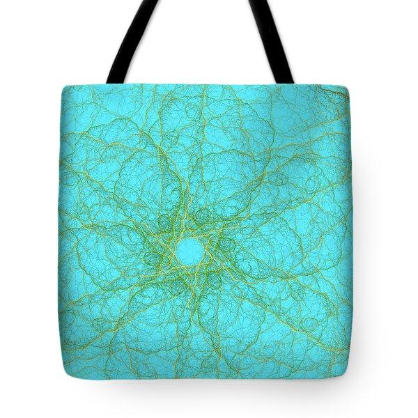 Nerves Green Blue Tote Bag