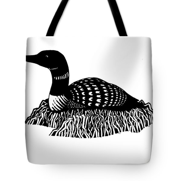Nesting Loon Tote Bag