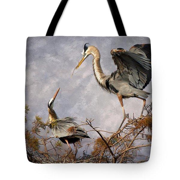 Nesting Time Tote Bag by Debra and Dave Vanderlaan