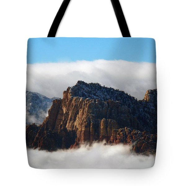 Nestled In The Clouds Tote Bag by Alan Socolik