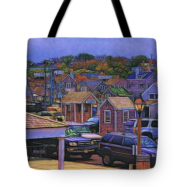 Nestling Nantucket Tote Bag by Jack Torcello