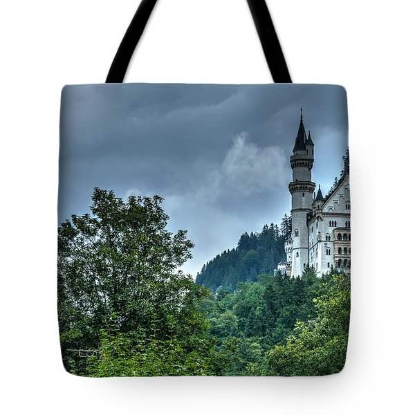 Tote Bag featuring the photograph Neuschwanstein Castle by Joe  Ng