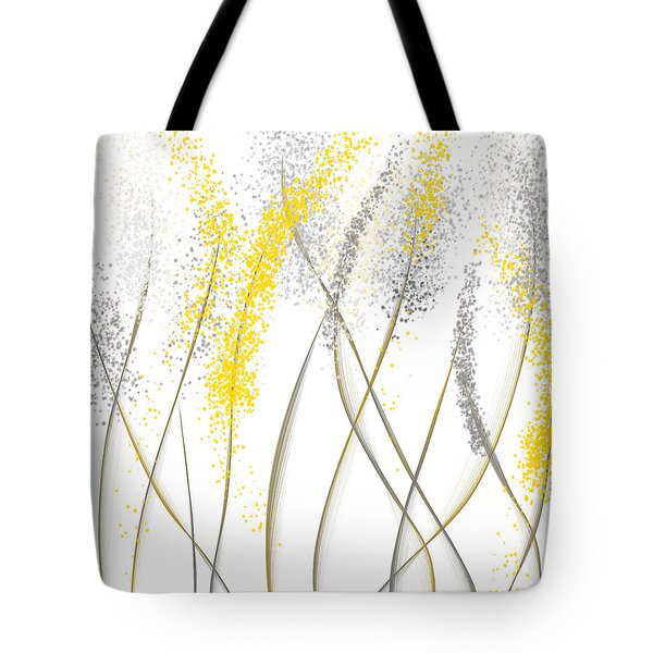 Neutral Sunshine - Yellow And Gray Modern Art Tote Bag