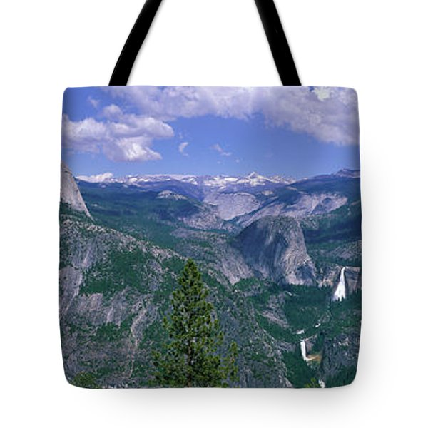 Nevada Fall And Half Dome, Yosemite Tote Bag by Panoramic Images