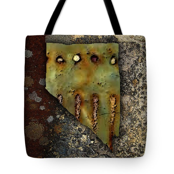 Nevada Map Tote Bag by Marvin Blaine