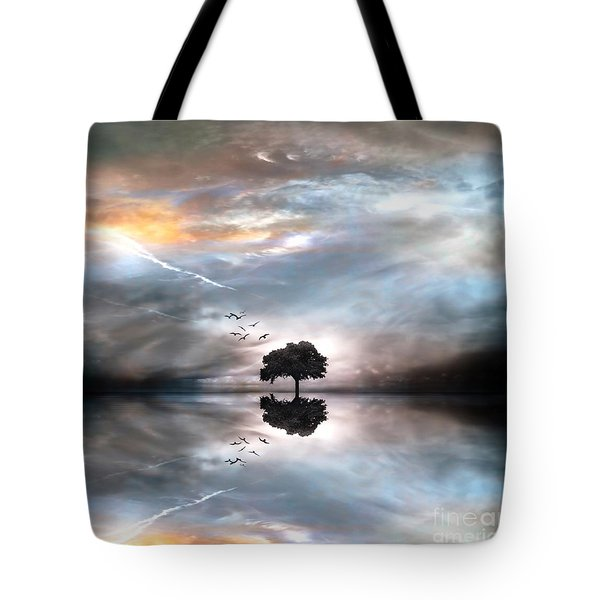 Never Alone Tote Bag by Jacky Gerritsen