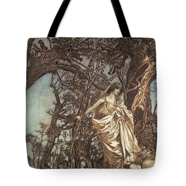 Never So Weary Never So Woeful Illustration To A Midsummer Night S Dream Tote Bag by Arthur Rackham