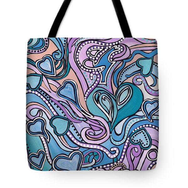 New Age Heart With Soul Tote Bag by Barbara St Jean