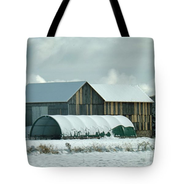 Tote Bag featuring the photograph New And Old Barn Planks by Brenda Brown