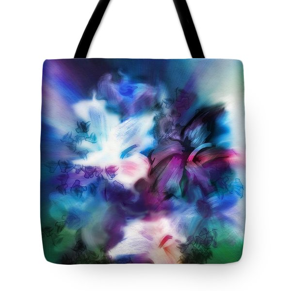 Tote Bag featuring the digital art New Bouquet by Frank Bright