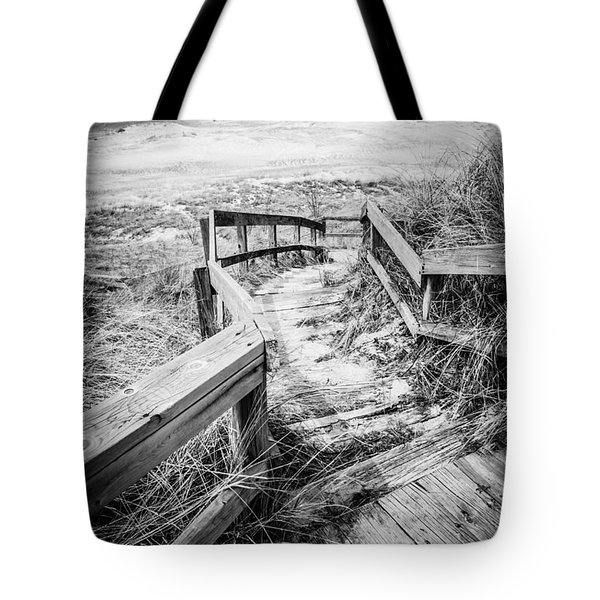 New Buffalo Michigan Boardwalk And Beach Tote Bag by Paul Velgos
